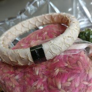 Marc Jacobs Jewelry - MARC JACOBS PYTHON Skin Bracelet